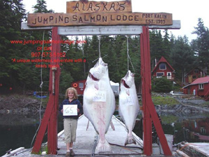 Halibut at Jumping Salmon Lodge
